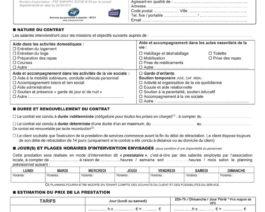 Avenant contrat prestataire SAAD – Réf. 85-015