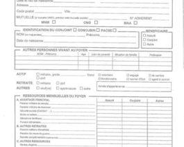 Demande de financement Caisse Militaire CERFA 13344*03 – Réf. 85-203
