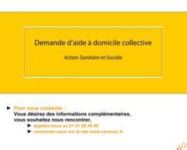 Demande de financement CAVIMAC collective – Réf. 85-216