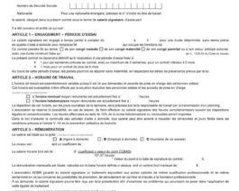 Contrat de travail PRESTATAIRE – CDD sans terme précis (jaune) – Réf. 85-306