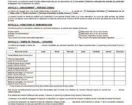 Contrat de travail MANDATAIRE – CDI – Réf. 85-325