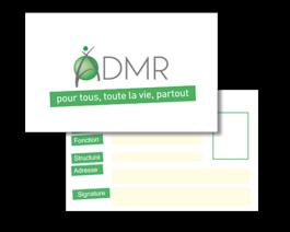 Carte d'identité ADMR + clip – Réf. 85-506