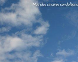 Carte de condoléances personnalisée ciel – Réf. 85-513