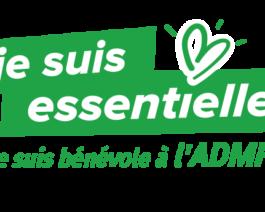 Stickers bénévoles pour véhicules «Je suis essentielle, je suis bénévole à l'ADMR»- par lot de 5 – Réf.85-937