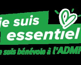 Stickers bénévoles pour véhicules «Je suis essentiel, je suis bénévole à l'ADMR»- par lot de 5 – Réf.85-938